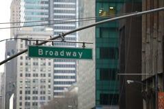 Broadway kennzeichnen innen Manhattan, New York Lizenzfreies Stockbild