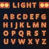 Broadway light bulb alphabet Stock Images