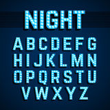 Broadway lights style light bulb alphabet, night show Royalty Free Stock Images