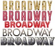 Broadway markizy słowa sztuka Zdjęcie Stock