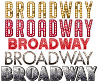 Broadway Marquee Word Art Stock Photo