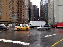Broadway - midtown Manhattan Fotografering för Bildbyråer