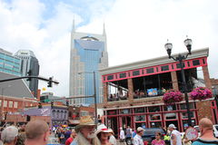Broadway in Nashville, Tennessee Royalty Free Stock Photo