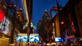 broadway natt Royaltyfri Bild