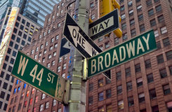 Broadway New York Arkivfoton