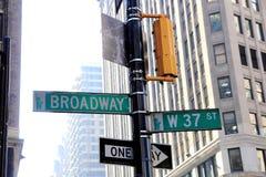 Broadway in New York Stock Photo