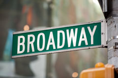 Broadway New York. Street sign stock image