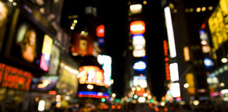 Broadway at Night. Defocused Photo of Broadway at Night royalty free stock photo