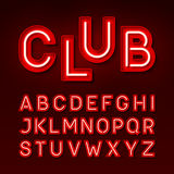 Broadway night club neon font Stock Images