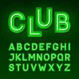 Broadway night club vintage style neon font Stock Image