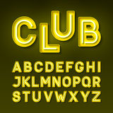 Broadway night club vintage style neon font Royalty Free Stock Photos