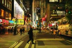 Broadway Nueva York Imágenes de archivo libres de regalías