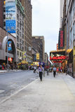 Broadway och W4 9 gata, New York City, USA Arkivfoto