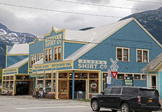 Skagway Shopping royalty free stock photography