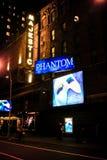 broadway opery fantom Fotografia Royalty Free