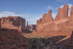 Broadway piaskowcowa formacja przy łuku parkiem narodowym obraz stock