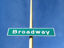 The Broadway Road name Plate Stock Photo