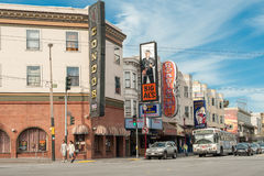 Broadway in San Francisco, CA Royalty Free Stock Images
