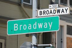 Broadway, San Francisco Stock Photo