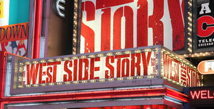 Broadway Show Advertisements Royalty Free Stock Photography