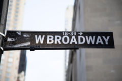 Broadway Sign. A Black and White Broadway sign in New York City Stock Photography