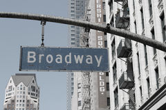 Broadway sign in the city of los angeles Stock Photography
