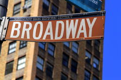 Broadway sign in New York city Royalty Free Stock Image