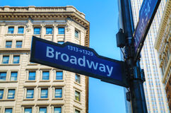 Broadway sign. In New York City royalty free stock photo