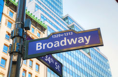 Broadway sign Royalty Free Stock Photos
