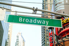 Broadway sign in New York City, USA Stock Photography