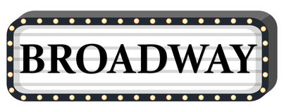 Broadway sign on white background Royalty Free Stock Photo