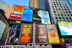 Broadway Signs Royalty Free Stock Images