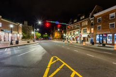 Broadway skrzyżowanie w Nowej przystani, Connecticut fotografia stock