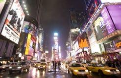 broadway stad New York Royaltyfria Bilder