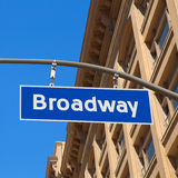 Broadway street Los Angeles Road sign Royalty Free Stock Photography
