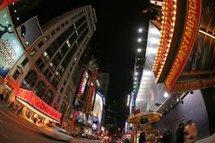 Broadway street, New York street night life Jan Royalty Free Stock Photography