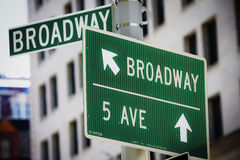 Broadway street sign. In Manhattan Royalty Free Stock Image