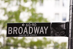 Broadway street sign Royalty Free Stock Image