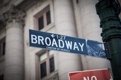 Broadway street sign Stock Image