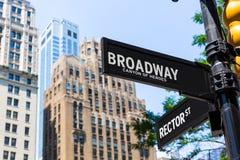 Broadway street sign Manhattan New York USA Royalty Free Stock Photos