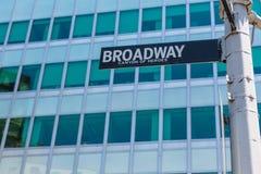 Broadway street sign Manhattan New York USA Stock Photo