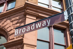 Broadway Street sign Manhattan Soho New York Royalty Free Stock Images