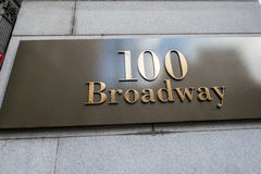 The broadway street sign in new york Stock Photo