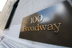 The broadway street sign in new york. Broadway street sign in New York Stock Images
