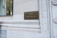 The broadway street sign in new york. Broadway street sign in New York Royalty Free Stock Photo