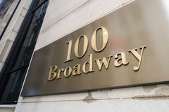 The broadway street sign in new york Royalty Free Stock Photography