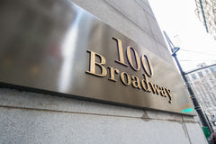 The broadway street sign in new york Royalty Free Stock Image