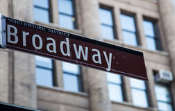 Broadway street sign Stock Photo