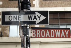 Broadway street sign in NOHO Royalty Free Stock Photos