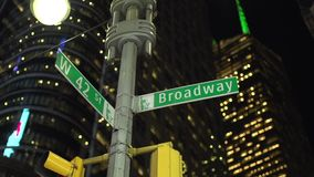 Broadway street sign (2 of 2) stock video